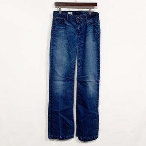 Gap | High Rise Trouser Wide Leg Distressed Jean
